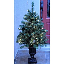 Noble Fir 4-foot Pre-Lit Artificial Entrance Tree