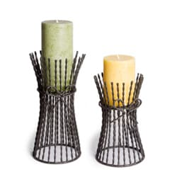 Twisted Wire Tower Candleholders Set