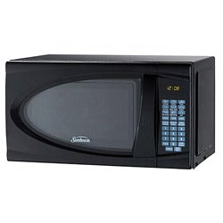 Sunbeam 1.1 Cubic Feet Black Digital Microwave Oven