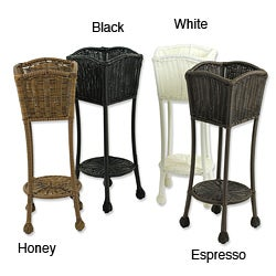 Wicker Lane Outdoor Resin Wicker Planter Stand
