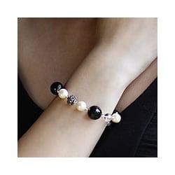 Sterling Silver 'Royal Elegance' Pearl Bracelet (8 mm) (India)