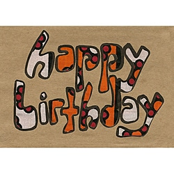 Global Handmade Hope Happy Birthday Kitenge Card (Pack of 4) Kenya
