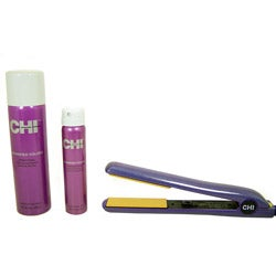 CHI Purple Glisten 1-inch Ceramic Hairstyling Iron Kit