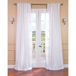Ice White Vintage Faux Textured Dupioni Silk 108-inch Curtain Panel