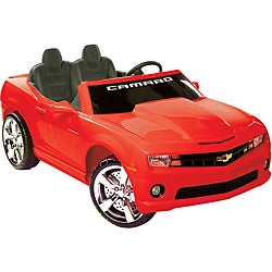 Two-seater Red 12V Chevrolet Camaro Ride-on
