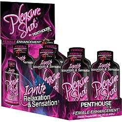 Penthouse Pleasure Shot Female Libido Enhancement Drink (Pack of 6)