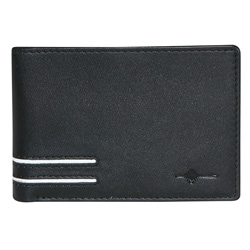 Buxton Men's Black Luciano Front Pocket Slim Bi-fold Wallet
