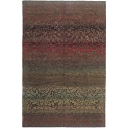 Nepalese Hand-Knotted Mauve Divine Wool Rug (4 x 6)