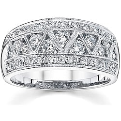 18k White Gold 1 1/8ct TDW Diamond Band (I, SI1)
