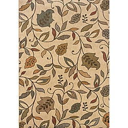 Messina Ivory/ Brown Transitional Rug (9'10 x 12'9)