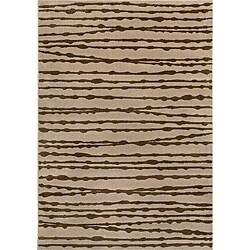 Miramar Grey/ Brown Transitional Area Rug (9'10 x 12'9)