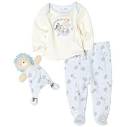 Vitamins Baby Boys Lion Footed Pajama Set with Blanket Buddy