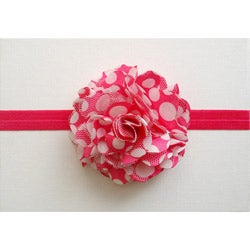 Hot Pink and White Polka Dot Headband