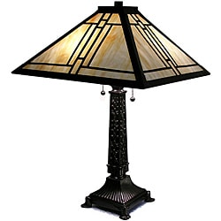 Warehouse of Tiffany-style Mission Gold Streak Table Lamp