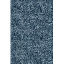 Hand-Tufted Posh Light Blue Shag Rug (5 x 7)