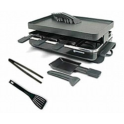 Swissmar Gourmet 8-person Black Raclette Grill Kit