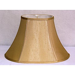 French Beige Shantung Silk Oval Shade