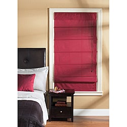 Taos Garnet Fabric Roman Shade (48 in. x 72 in.)