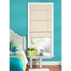 Taos Thermal Ecru Fabric Roman Shade (35 in. x 72 in.)