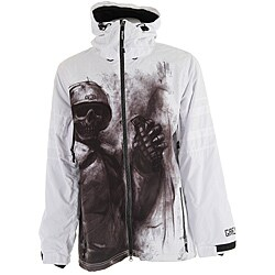Grenade men s white sullen g a s snowboard jacket 13939177