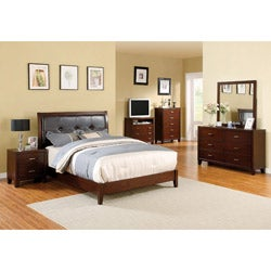 Webster Brown Cherry Finish 4-piece Queen-size Bed Set