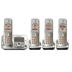 Panasonic KX-TG4134N DECT 6.0 Cordless Digital Answering System with 4 Handsets (Refurbished)