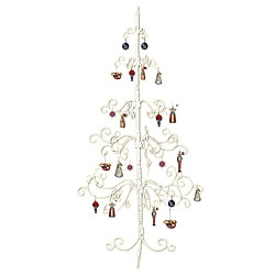 White Wrought Iron Christmas Tree