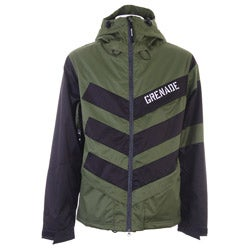 Grenade Men's Green Chevron Snowboard Jacket