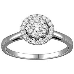 De Couer 10k White Gold 1/3ct TDW Diamond Engagement Ring (H-I, I2)