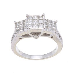 10k White Gold 1 1/2ct TDW Diamond Engagement Ring (H-I, I2-I3)