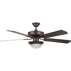 Twist-on Glass 52-inch Ceiling Fan