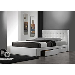 Belmont White Queen-size Storage Bed