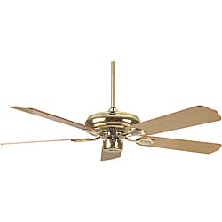 52-inch Polished Brass Ceiling Fan