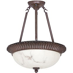 Two-light Semi Flush Mount Pendant