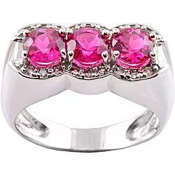 Michael Valitutti 14k Gold Rubellite and 1/5ct TDW Diamond Ring (I-J, I1-I2)