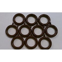 Red Mahogany Curtain Rings (Set of 10)