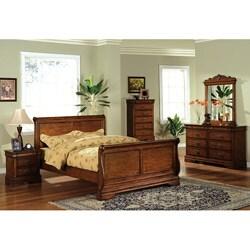 Furniture of America Venice Dark Oak Finish 5-piece Queen-size Bed Set
