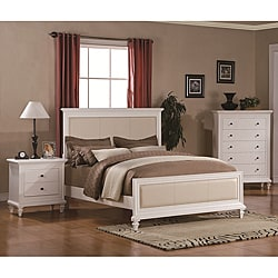 Kingdom White 3-piece Queen-size Bedroom Set