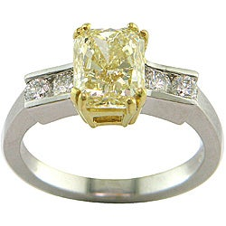 18k Gold 2 1/2ct TDW Certified Clarity-Enhanced Diamond Engagement Ring (G-H, SI1-SI2)
