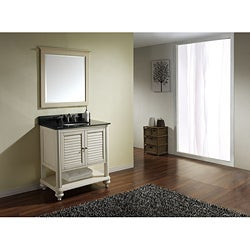 Orlando Antique White 30-inch Vanity with Black Granite Top and Sink