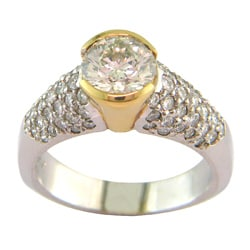 14k Gold 2 1/3ct TDW Certified Clarity-enhanced Diamond Engagement Ring (K-L, SI3)