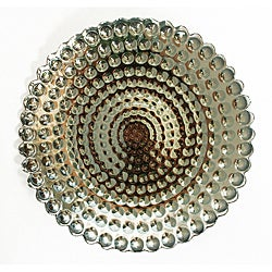 Pearl Smoke/Silver-plated Plates (Set of 4)