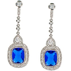 Stunning Blue Cubic Zirconia Earrings
