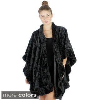 Tabeez Women's Faux Fur Glamour Cape