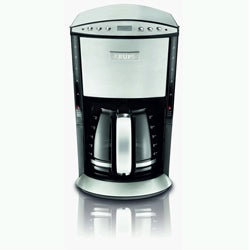 Krups KM720D50 12 Cup Programmable Glass Filter Coffee Maker, Stainless Steel