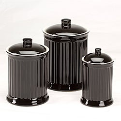 Simsbury Black Storage Canisters (Set of 3)