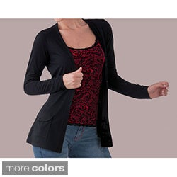 Ilusion Women&#39;s Front Pocket Sash Cardigan