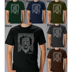 Los Angeles Pop Art Men's Edgar Allen Poe The Raven T-shirt