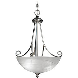 Woodbridge Lighting Kenshaw 3-light Satin Nickel Pendant