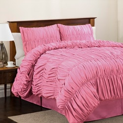 Lush Decor Pink Venetian Full-size 4-piece Comforter Set